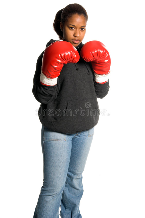 都市的拳击手 库存照片
