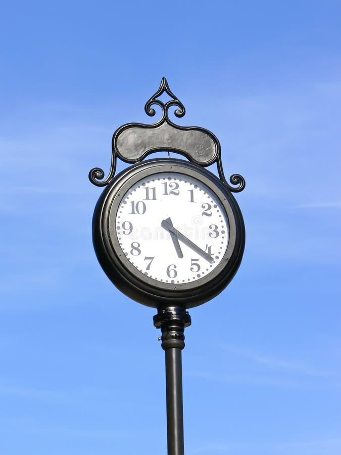 都市的时钟 免版税库存图片