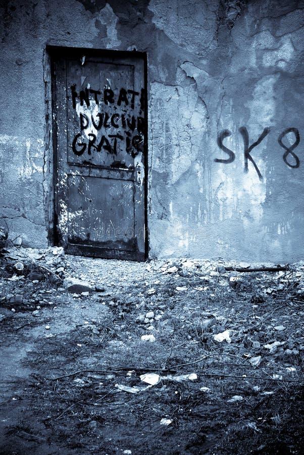 都市的朽烂 库存图片