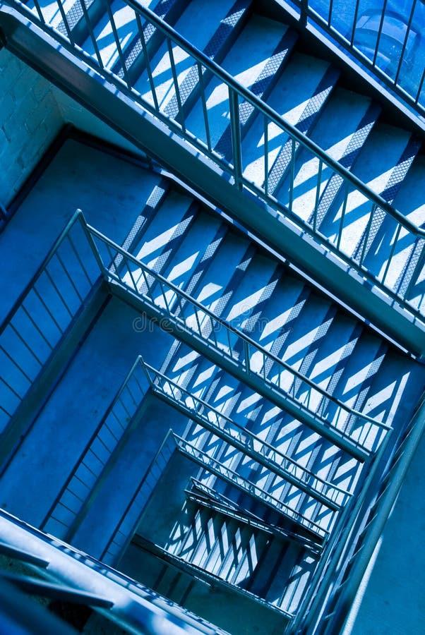 都市的楼梯 免版税库存照片