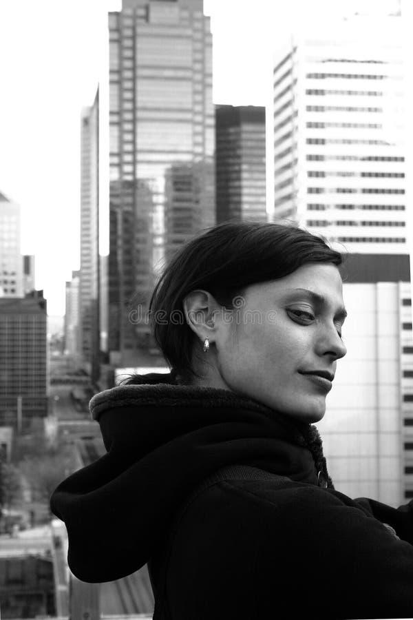 都市的歌剧女主角 免版税库存照片