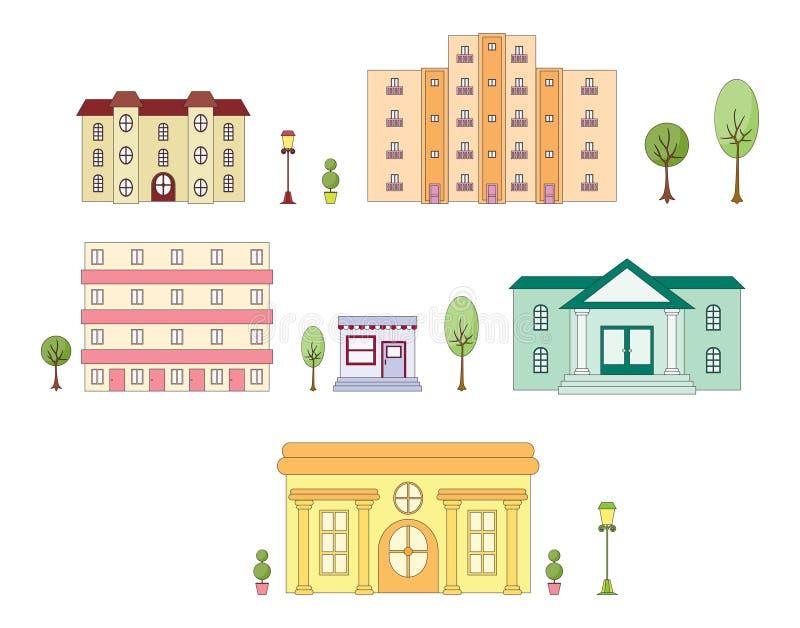 都市的结构 向量例证