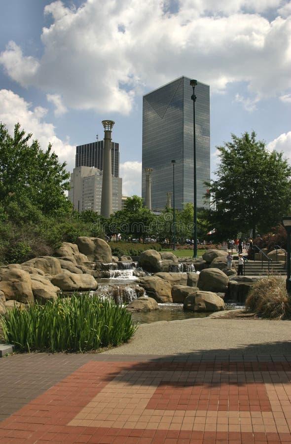 都市的绿洲 免版税库存照片