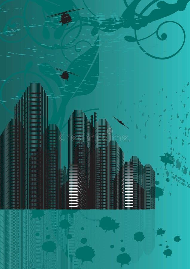 都市的背景 库存例证