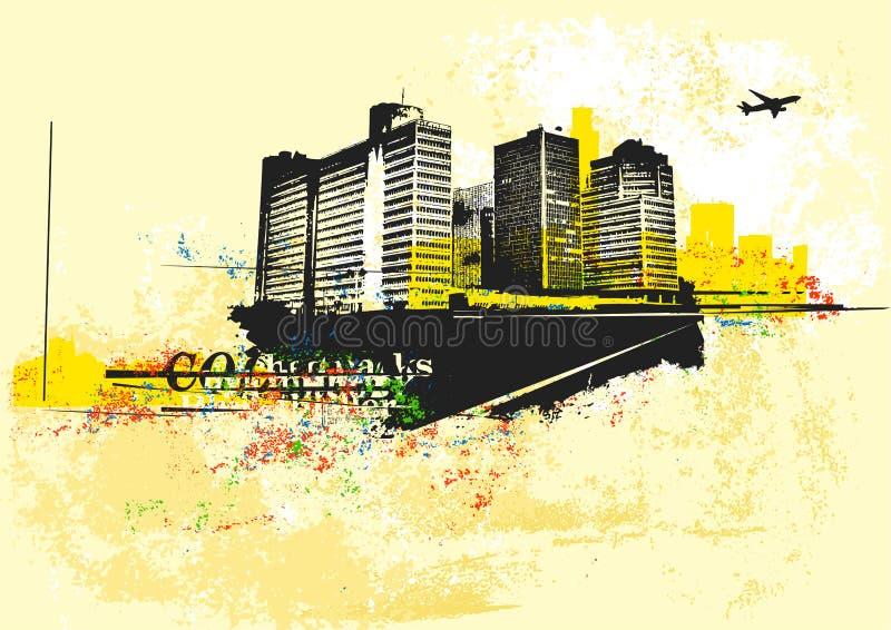 都市的背景 向量例证
