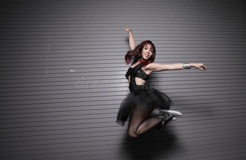 都市的芭蕾舞女演员 免版税库存图片
