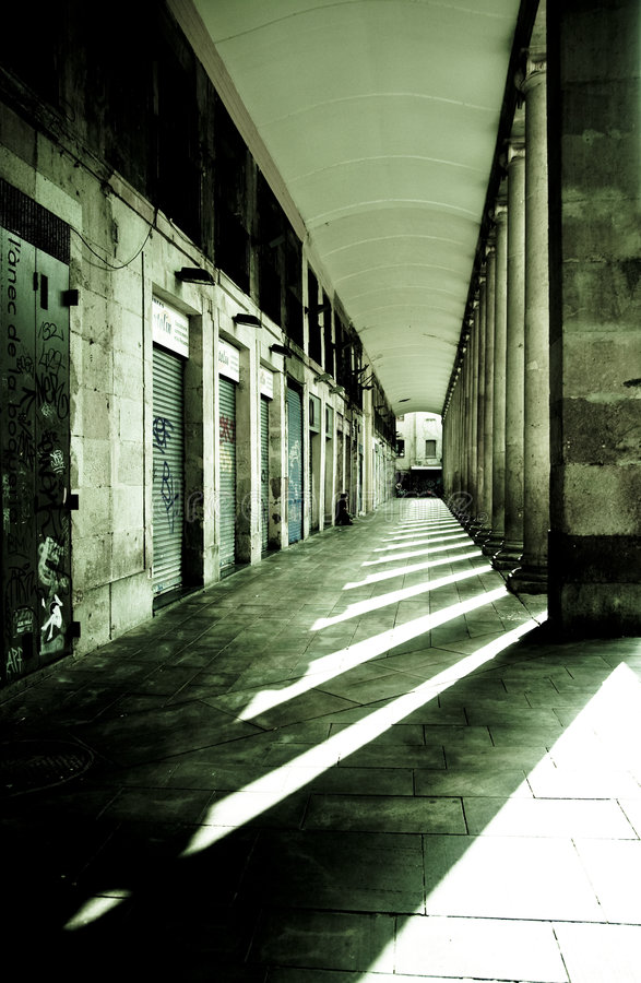 都市的衰落 库存图片