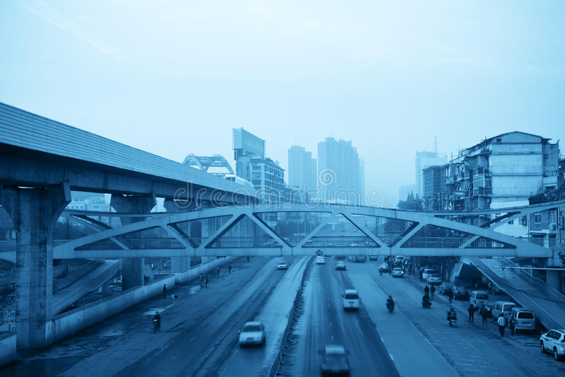 都市的运输 图库摄影