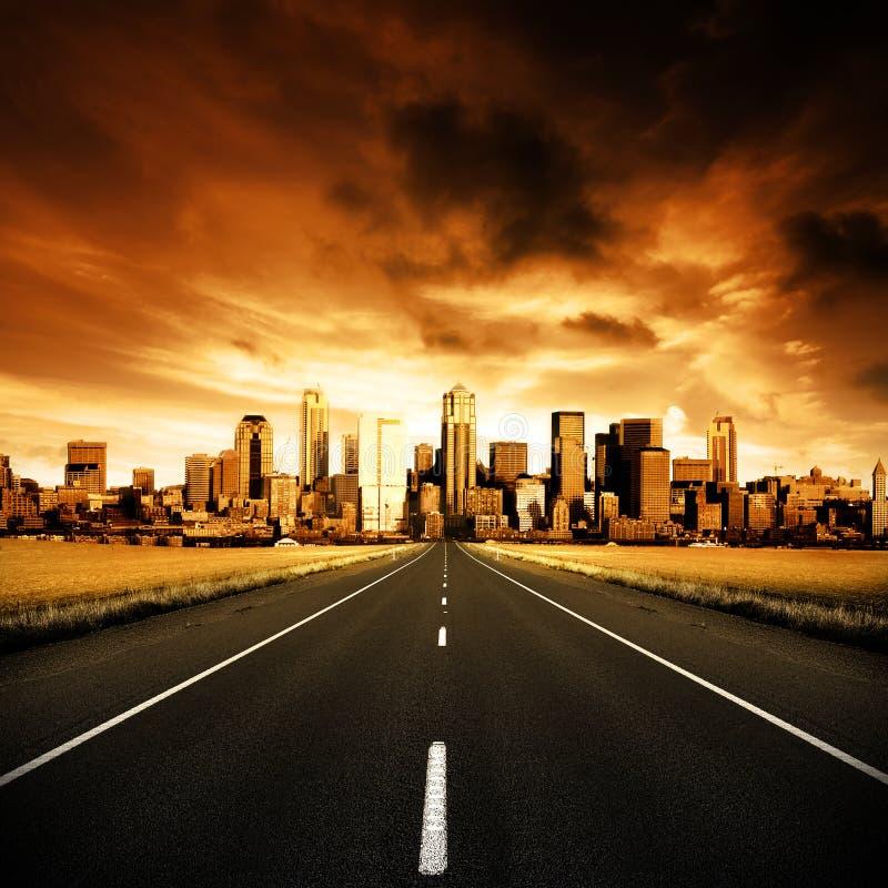 都市的高速公路 免版税图库摄影