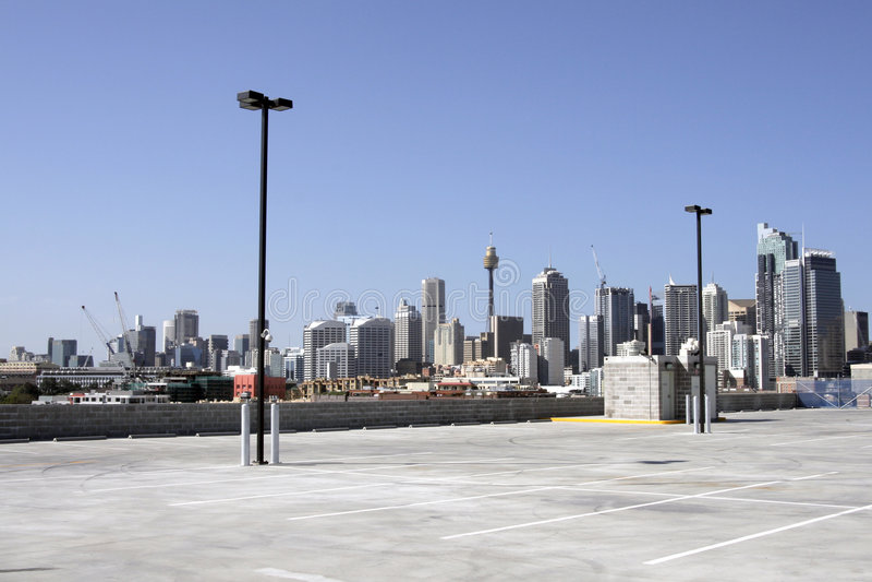 都市的carpark 免版税库存照片