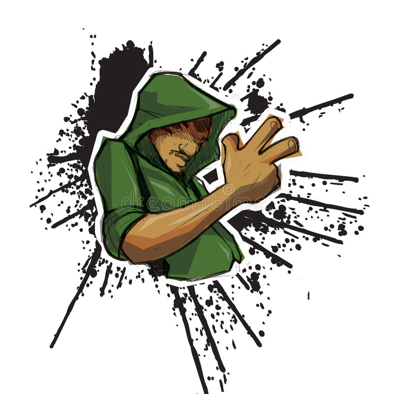 都市的hoodie 免版税库存照片