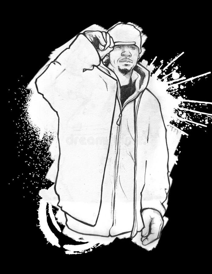 都市的hoodie 皇族释放例证