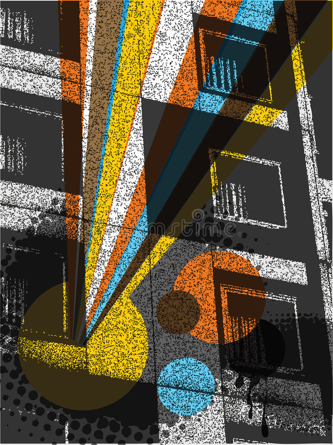 都市编译的流行音乐的彩虹 向量例证