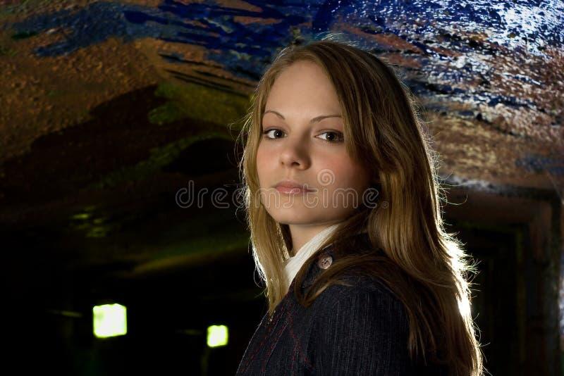 都市美丽的女孩 免版税库存图片