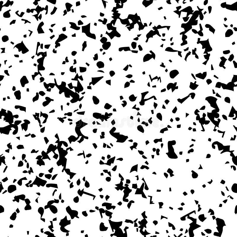 都市背景的grunge 黑色困厄了无缝的五谷尘土纹理覆盖物 库存例证