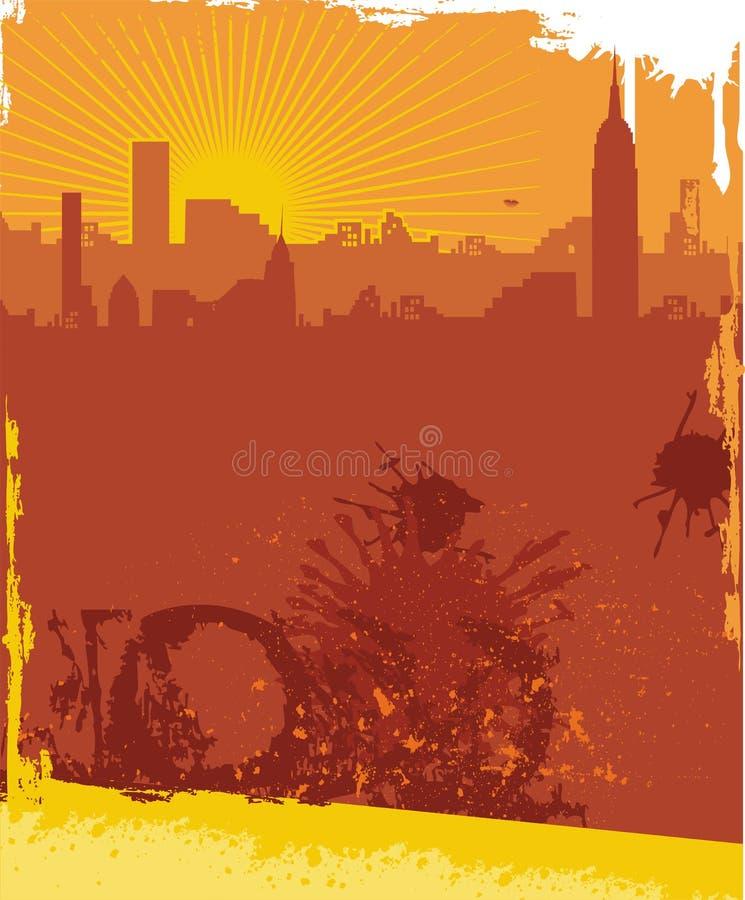 都市背景的grunge 皇族释放例证