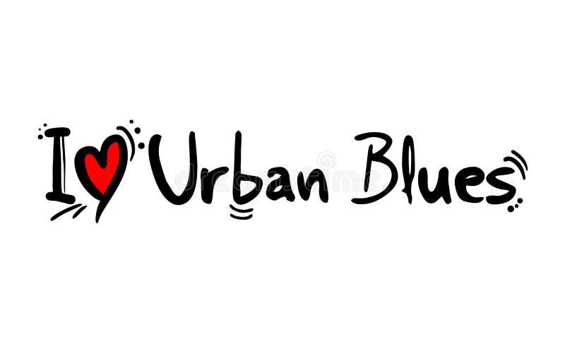 都市蓝色音乐样式 向量例证