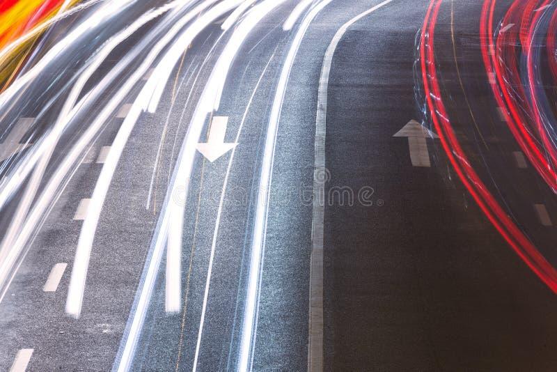 都市路光足迹 库存照片
