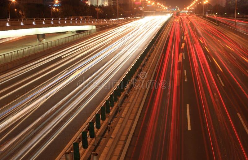 都市路在晚上 免版税库存照片
