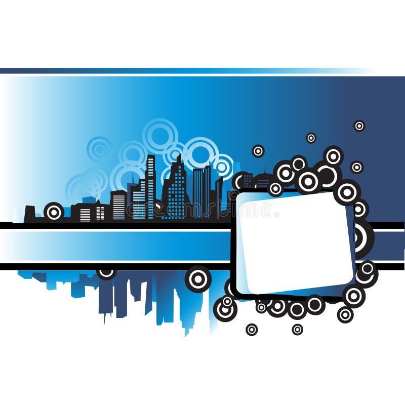 都市都市风景的框架 向量例证