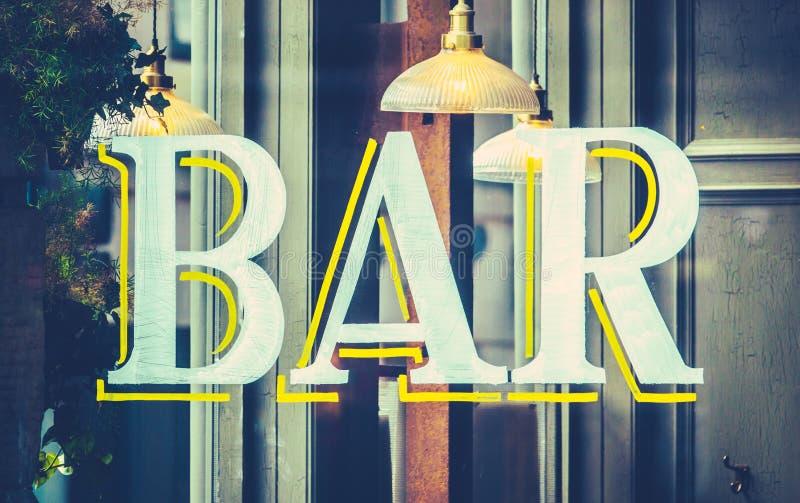 都市酒吧标志 图库摄影