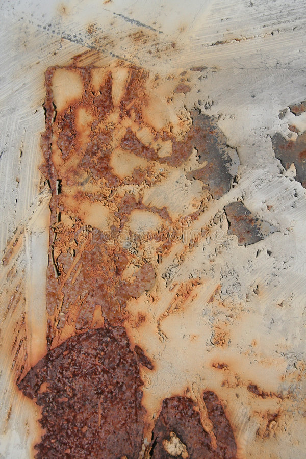 都市铁锈的纹理 免版税库存照片
