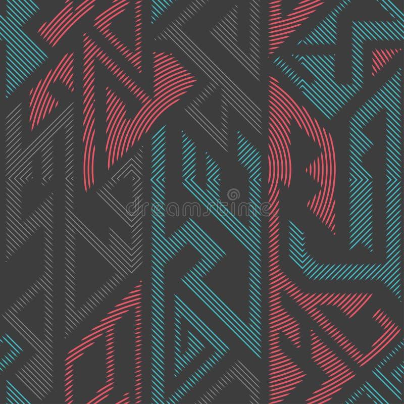 都市颜色几何无缝的样式 皇族释放例证