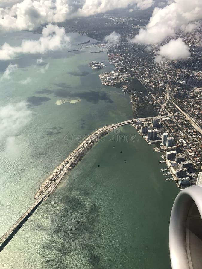 都市风景从上面 免版税库存照片