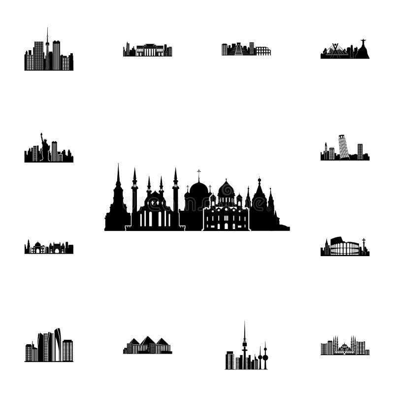 都市风景伦敦象 详细的套都市风景象 优质质量图形设计标志 其中一个websi的汇集象 库存例证