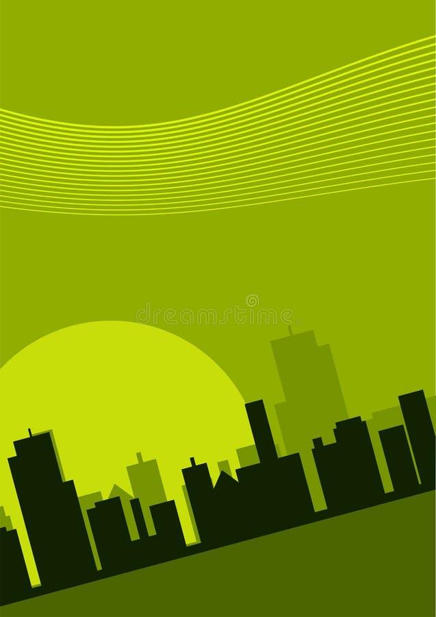 Download 都市风景例证 向量例证. 插画 包括有 掀动, 通知, 早晨, 日落, 商业, 绿色, 黄昏, 都市风景, 都市 - 3140093