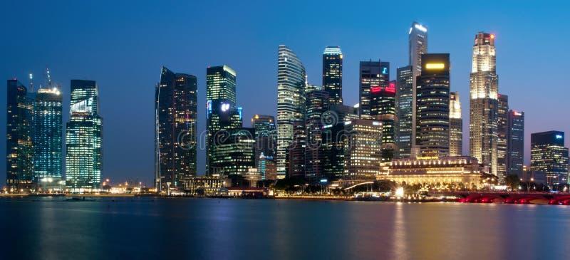 都市风景全景新加坡 编辑类库存照片