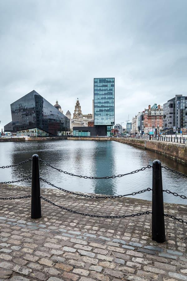 都市风景利物浦,英国,英国 库存照片