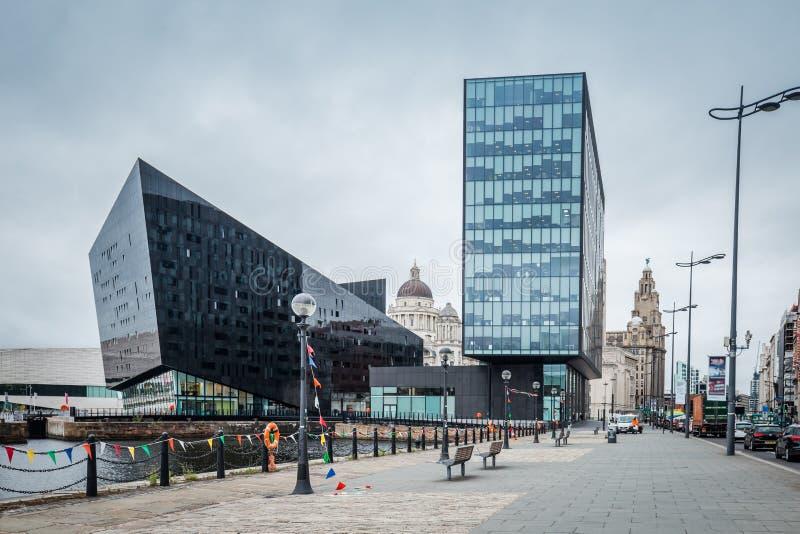 都市风景利物浦,英国,英国 免版税图库摄影