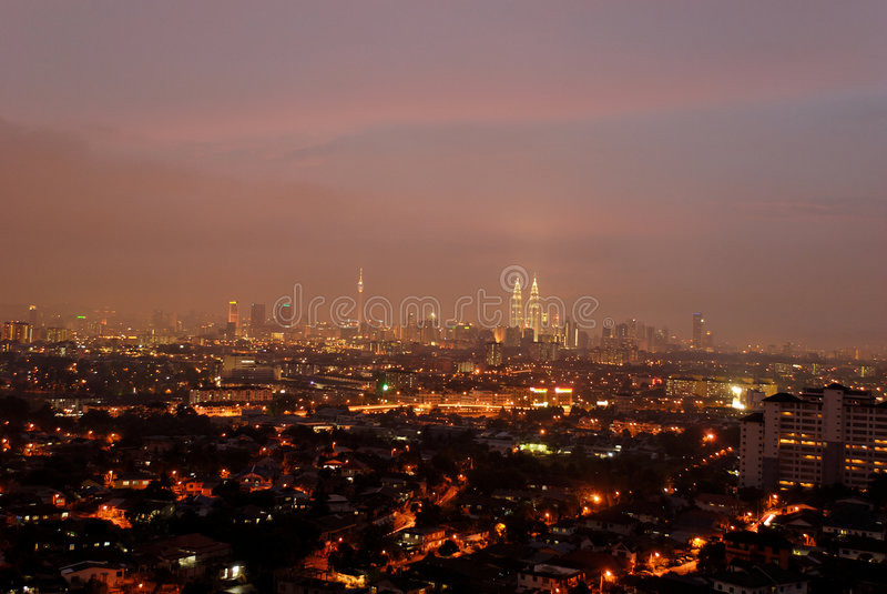 都市风景吉隆坡 免版税库存图片