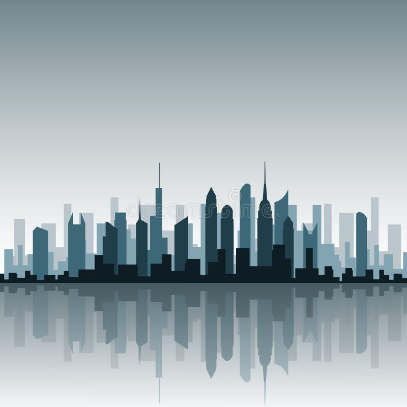 都市风景向量 库存例证