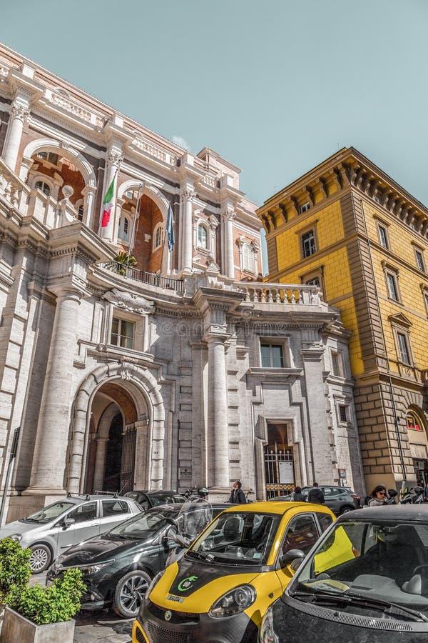 都市风景和普通建筑学从罗马,意大利首都 免版税库存图片