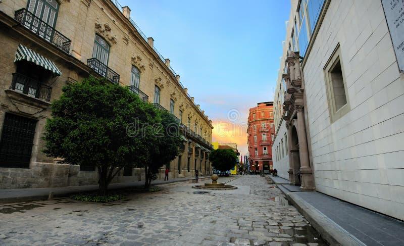 都市风景哈瓦那老全景 免版税库存照片