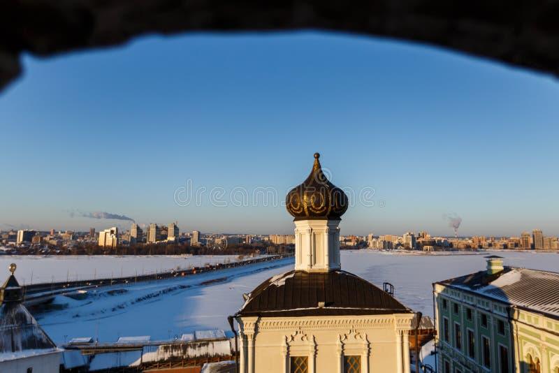 都市风景喀山鞑靼斯坦共和国 免版税库存图片