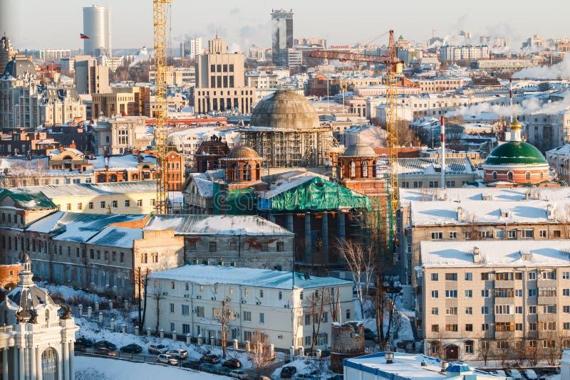 都市风景喀山鞑靼斯坦共和国 免版税库存照片