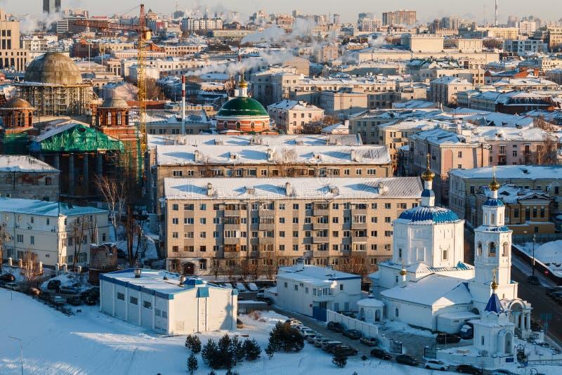 都市风景喀山鞑靼斯坦共和国 库存照片