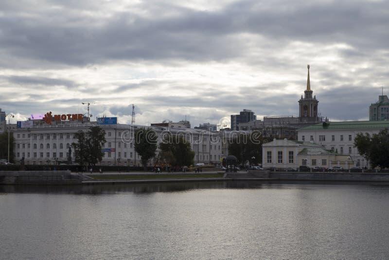 都市风景在叶卡捷琳堡,俄联盟 免版税库存图片