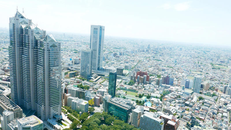 都市风景在日本东京新宿 免版税图库摄影