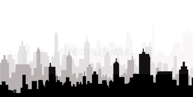 都市风景地平线-传染媒介 皇族释放例证