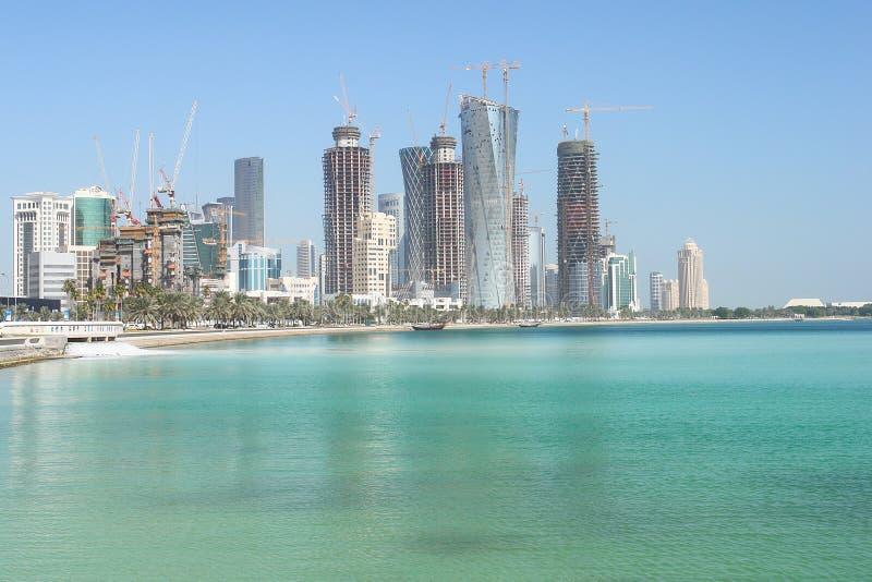 都市风景多哈卡塔尔 免版税库存照片