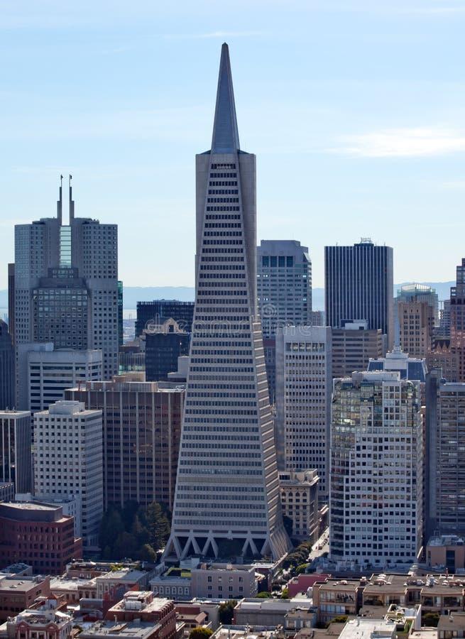 都市风景弗朗西斯科金字塔圣transamerica 免版税库存照片