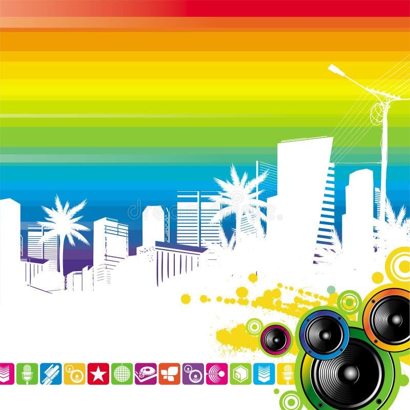 都市风景扩音器 库存例证