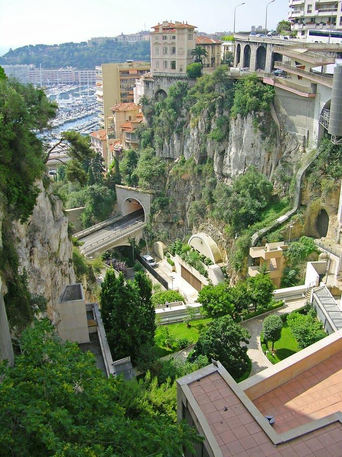 都市风景摩纳哥 免版税库存图片