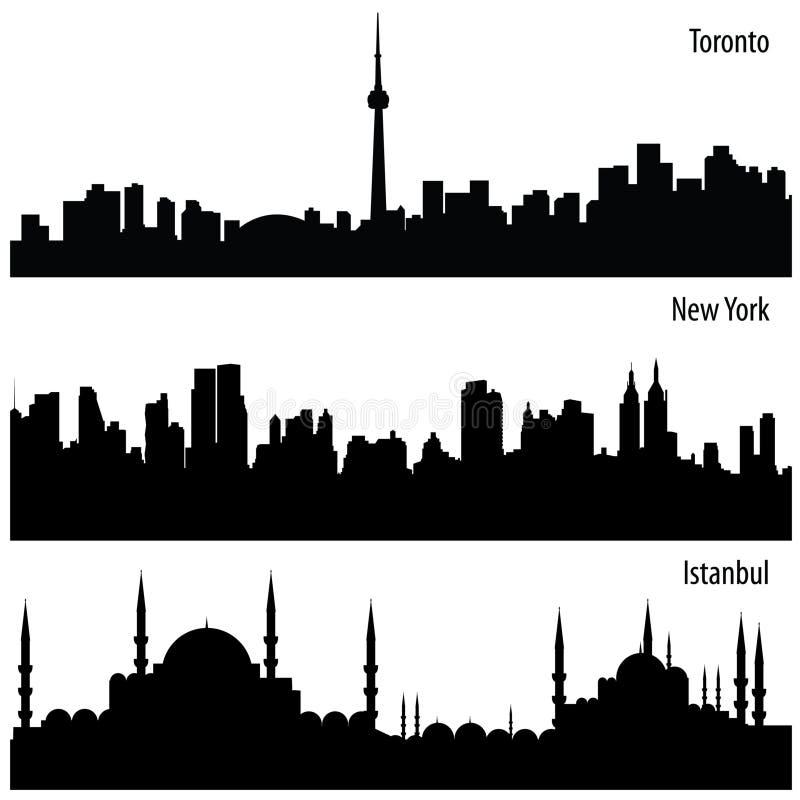 都市风景收集向量 库存照片