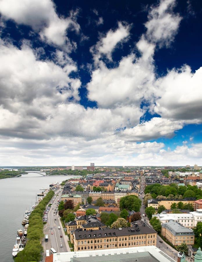 都市风景斯德哥尔摩视图 库存图片