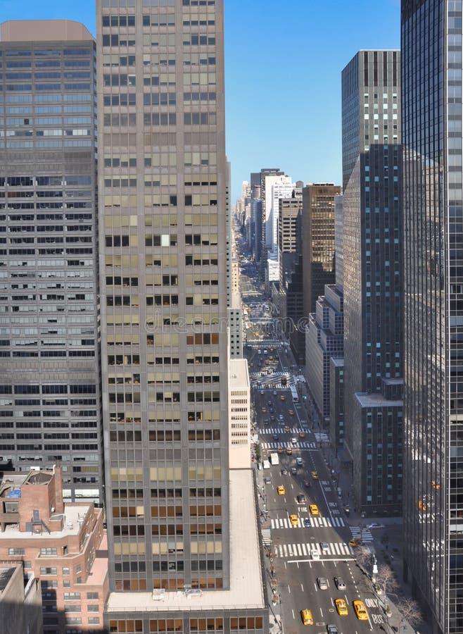 都市风景曼哈顿中间城镇 库存图片